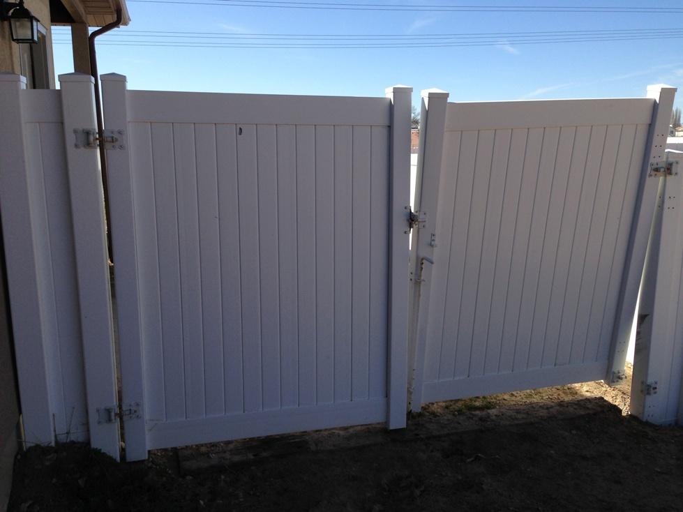 Steel Framed Fences : Steel frame gates vinyl fence experts